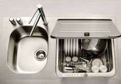 KitchenAid Briva Dishwasher/Sink...great idea for small/tiny apartment kitchens