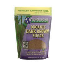 Wholesome Sweeteners Fair Trade Organic Dark Brown Sugar, 24-Ounce Pouches (Pack of 6) ( Value Bulk Multi-pack) - http://goodvibeorganics.com/wholesome-sweeteners-fair-trade-organic-dark-brown-sugar-24-ounce-pouches-pack-of-6-value-bulk-multi-pack/