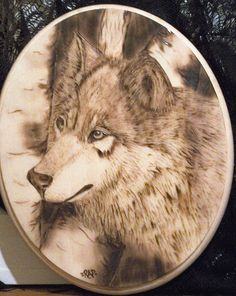 Wolf Pyrography by Renee'
