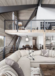 Wooden Home Decor Dated A-frame mountain cabin in Lake Tahoe get fabulous transformation Home Decor Dated A-frame mountain cabin in Lake Tahoe get fabulous transformation Living Room Modern, Home And Living, Living Room Designs, Living Rooms, A Frame Cabin, A Frame House, Mountain House Decor, Plan Chalet, Casa Loft