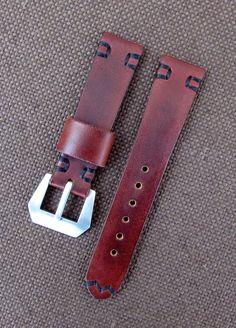 Бордовый ремешок для часов