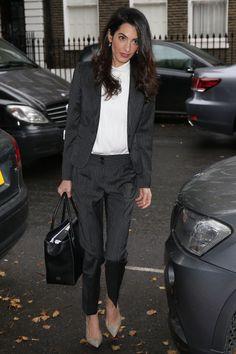 daa114605e6a Amal Clooney Wore a Gorgeous Navy Jumpsuit to a Edinburgh Gala