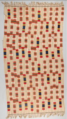 Late C19th Ewe man's cloth, Ghana. One of my favourite of the British Museum's Ewe cloths, reference number Af1955,05.252