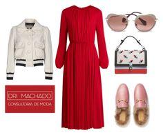 """Lady in red"" by drimachado on Polyvore featuring moda, Valentino, Gucci, Fendi, Miu Miu e Marc Jacobs"