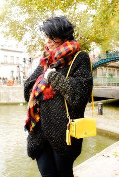 """French blogger, Nadia Nizzagirl is wearing our oversized cardigan """"Elena"""" #stellapardo"""