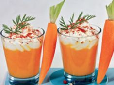 Cappuccino of carrots Cappuccino Recipe, Cappuccino Coffee, Tapas, Italian Coffee, Eating Habits, Carrots, Brunch, Food And Drink, Appetizers