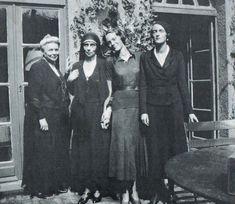 Princess Zenaida Youssoupoff, Grand Duchess Xenia, Princess Irina 'Bebe' Youssoupoff, and Princess Irina.
