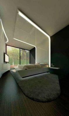 Untitled Master Bedroom Interior, Modern Bedroom Design, Home Interior Design, Interior Architecture, Villa Design, Bed Design, Drawing Room Ceiling Design, Ideas Hogar, Living Room Modern