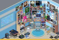 Pixel art desk corner