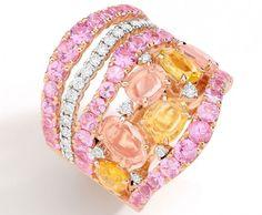 The Brumani blended rosé gold, diamond, rose quartz and yellow sapphire
