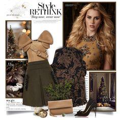A fashion look from November 2015 by thewondersoffashion featuring Simone Rocha, Prada, Christian Louboutin, Fendi, N°21, Oliveve e Pomellato