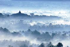 Image detail for -Morning Mist at Borobudur Temple, a photo from Jawa Tengah, Java ...