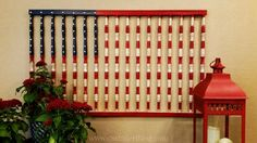 American Flag Crib Rails --- really cool idea. Don't know if I would do it, but I like it!