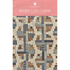 River Log Cabin Quilt Pattern by MSQC - MSQC - MSQC. This would look great with a mix of plaids & prints!