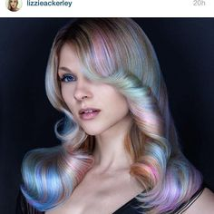 When your rainbow hair starts to fade, lol. I know but I love it!opal hair!! how fun would this be! :)