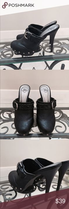 B2B Bebe black studded clogs pristine 9 Very cool and comfy! Excellent condition, virtually no signs of wear. bebe Shoes Mules & Clogs