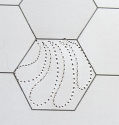 Ideas for quilting hexagos (w/printable hexagon sheet) by