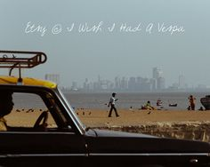 Bombay, India Taxicab Skyline Street Photograph print on Etsy