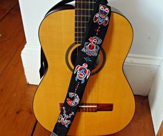 Haida Totem Adjustable Guitar Strap Custom Made-Hand