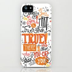 TODAY YOU ARE YOU... - DR. SEUSS iPhone & iPod Case by Matthew Taylor Wilson - $35.00