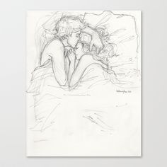 Dream a Little Dream Stretched Canvas by Burdge - $85.00