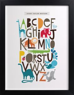 Click to see 'Animals Alphabet' on Minted.com