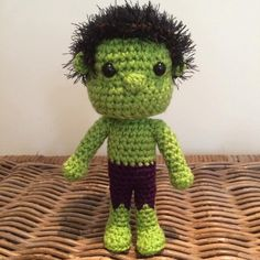Hulk del ganchillo amigurumi chibi peluches por LottiesCreations
