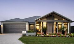 Choose your dream home design now with Dale Alcock. Available in Perth or the South-West. Dream Home Design, Modern House Design, Modern Architecture House, Architecture Design, House Elevation, Display Homes, Facade House, House Facades, Dream House Plans