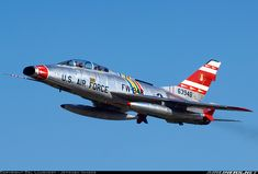 North American Super Sabre supersonic jet fighter in service with the USAF Us Military Aircraft, Military Jets, Fighter Aircraft, Fighter Jets, F100, Reactor, Military Pictures, Vintage Airplanes, Aircraft Pictures