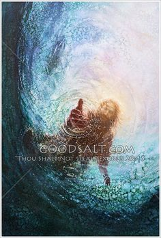 Save Me - the Hand of God Artist/Photographer: Yongsung Kim Image ID: yskas0001  Jesus reaches down into the water to save a drowning person.