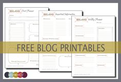 Printable Blog Planners | Organise Your Blog - Lifestyle & Parenting Blog | Life With Munchers