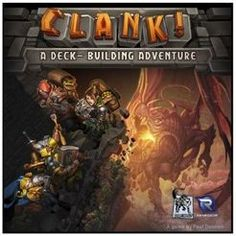 Clank!   Great deck building board game.  Delve deep into the dungeon in search of treasures, but try to be quiet or you will wake the dragon.