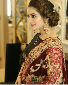 Pre Wedding Party, Aiman Khan, Pakistani Bridal Dresses, Pakistani Actress, Abaya Fashion, Sari, Actresses, Outfits, Beauty