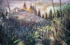 Hugo Tieleman. Villa Loco Nº 4, 2012. Oil, spray paint and alkyd paint on canvas, 100 x 150 cm.