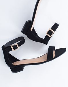 Go-To Strappy Sandals #anklestrapsheelslow