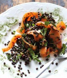 Moroccan Carrot Ribbons and Black Lentils, Wholeliving.com/?utm_content=bufferfa91a&utm_medium=social&utm_source=pinterest.com&utm_campaign=buffer