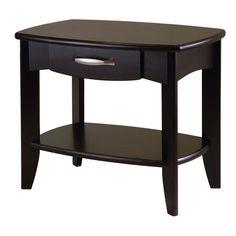 Shop Winsome Wood Dark Espresso Rectangular End Table at Lowes.com