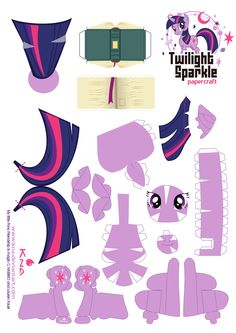 Twilight Sparkle - My Little Pony - Papercraft (all ponies on site) My Little Pony Party, Fiesta Little Pony, My Little Pony Craft, Cumple My Little Pony, Twilight Sparkle, Mlp Twilight, Rainbow Dash, Origami, Diy And Crafts