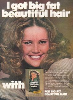 """My hair color. I bought """"Dark Blonde"""" in grade and have never looked back. Vintage Makeup Ads, Vintage Beauty, Vintage Ads, 1980s Makeup, Vintage Magazines, 1970s Hairstyles, Vintage Hairstyles, Retro Advertising, Vintage Advertisements"""