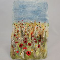 Embroidered and Felted Hanging - Poppy Fields by Lynwoodcrafts, via Flickr