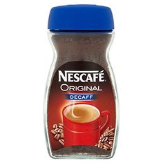 Nescafe Original Decaffeinated Coffee ** Click image for more details. (This is an affiliate link) Espresso Shot, Espresso Coffee, Iced Coffee, Coffee Label, Coffee Business, Coffee And End Tables, Coffee Health Benefits, Nescafe, Instant Coffee