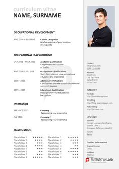 PowerPoint CV: Use Our Traditional PowerPoint CV Template In Order To Give  Your Future Employer