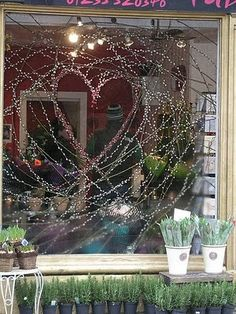 flower shop windows | Here is a shot of our Abingdon shop's Valentines window display. The ...