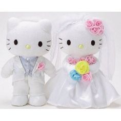 Hello Kitty - Happy Wedding Bridal Plush SET SIERRRA I THINK IM GETTING THIS FIR YOU WHEN YOU MARRIED