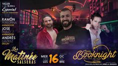 Hoy domingo fiesta Matinée salsero en sala BookNight de Armilla con Ramón Peregrina (Salsamon), J.Pablo y Andrés Gazkez a partir de las 18:00 h.