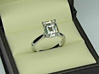 Incredible 24.20 Carat Emerald Cut Diamond Gorgeous 925 Silver Engagement Ring | eBay