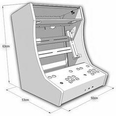 Kit Bois/polycarbonate pour auto-construction d'un Bartop 2 joueurs: