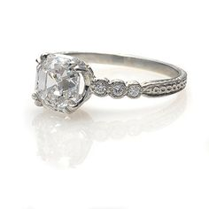 Art Deco Ring - love the detail on the band.