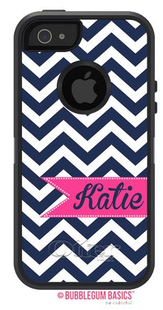 Custom Navy Chevron stripes Magenta Ribbon Banner Monogram Personalized OTTERBOX DEFENDER iPhone 5 5S 5C 4/4S iPod Touch 5G Case  by iselltshirts (https://www.etsy.com/listing/171698144/otterbox-defender-iphone-5-5s-5c-44s?ref=shop_home_active_4)