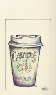 Campos Coffee cup ... http://traceyfletcherking.blogspot.com.au/